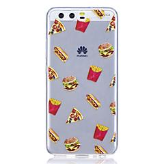 Taske til huawei p8 lite (2017) p10 taske cover hamburgers mønster høj transparent tpu materiale anti-ridse taske til huawei p10 lite p10