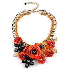 Damskie Oświadczenie Naszyjniki sztuczna Diament Flower Shape StopKorygujący Godny podziwu Osobiste Ręcznie wykonane Wyrazista biżuteria