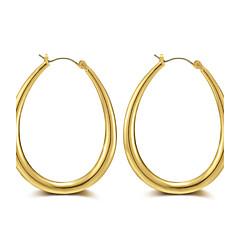 Dames Ring oorbellen Sieraden Luxe Sieraden Eenvoudige Stijl Oversized Punk-stijl Hip-hop Gothic Goud Rose Legering Cirkelvorm