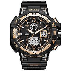 Herre Sportsur Modeur Digital Watch Japansk Quartz Digital Kronograf Vandafvisende Stopur Selvlysende i mørke Chok Resistent PU Silikone