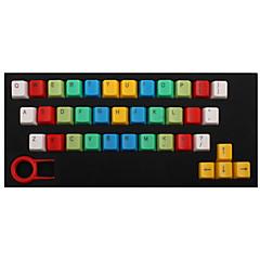 Abs 37 toetsen achtergrondverlichting regenboog keycaps geel voor mechanisch toetsenbord