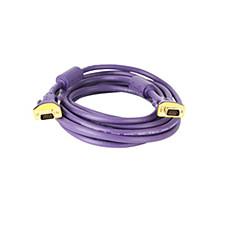 VGA Kábel, VGA to VGA Kábel Papa - papa Aranyozott réz 3,0M (10Ft)