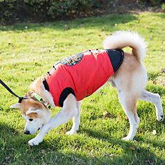 Koira Liivi Koiran vaatteet Uusivuosi Kirjailtu Punainen