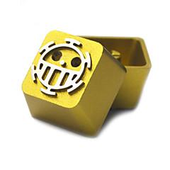 Transparante metalen aluminiumlegering keycap set voor mechanische toetsenbord top gedrukt