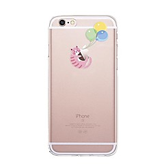 Til iPhone X iPhone 8 Etuier Transparent Mønster Bagcover Etui Leger med Apple-logo Kat Ballon Blødt TPU for Apple iPhone X iPhone 8 Plus