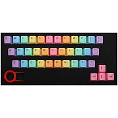 Abs 37 sleutels backlight rainbow keycaps roze voor mechanisch toetsenbord