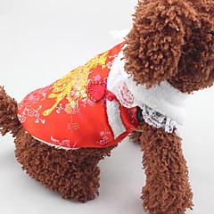 Σκύλος Παλτά Ρούχα για σκύλους Πρωτοχρονιά Πούλιες Κόκκινο