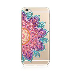 Na iPhone 7 iPhone 7 Plus Etui Pokrowce Przezroczyste Wzór Etui na tył Kılıf Mandala Koronka Printing Miękkie Poliuretan termoplastyczny