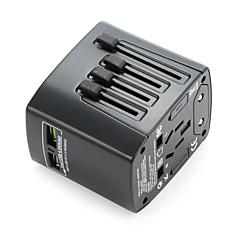evrensel seyahat adaptörü 4.8a 2 usb şarj portu dünya çapında hepsi bir arada evrensel güç dönüştürücü duvar şarj cihazı
