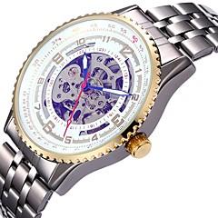 Ανδρικά Γυναικεία Αθλητικό Ρολόι Διάφανο Ρολόι μηχανικό ρολόι Ιαπωνικά Αυτόματο κούρδισμα Ημερολόγιο Χρονογράφος Ανθεκτικό στο Νερό