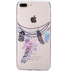 Kompatibilitás iPhone 7 iPhone 7 Plus tokok Strassz Ultra-vékeny Átlátszó Minta Hátlap Case Álomfogó Puha Hőre lágyuló poliuretán mert