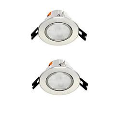 2 stuks 4w ingebouwde led spot licht celing light warm wit / wit ac220v maat gat 75mm