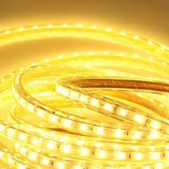 6m 220v higt heldere LED licht strip flexibel 5050 360smd drie kristal waterdicht lichtbalk tuinverlichting met eu stekker