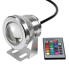 1pcs hkv® rgb 10w 12v led undervands lys 16 farver 24keys rgb controller 1000lm vandtæt ip68 springvand pool lampe belysning