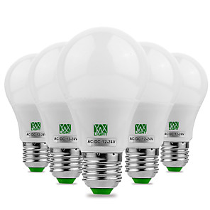 "ywxlight® 5pcs e27 / e26 5730smd 5watts 10λεπτο ζεστό λευκό δÏοσεÏÏŒ λευκό οδήγησε δεν Ï""Ïεμοπαίζει λαμπτήÏας υψηλής φωτεινότητας οδήγησε 12v 12-24v"