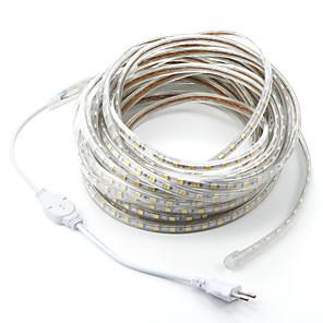 15M 900SMD LEDs 5050 SMD Warm wit / Wit / Rood Knipbaar / Waterbestendig 220 V