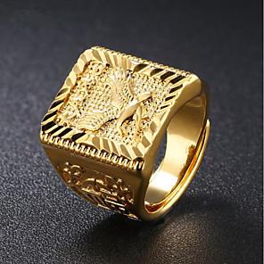 Per uomo Alla moda Anello con sigillo - Oro 18k Eagle Di tendenza Gioielli Oro Per Quotidiano Evento Regolabili