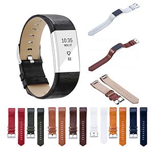 Horlogeband voor Fitbit Charge 2 Fitbit Sportband Echt leer Polsband