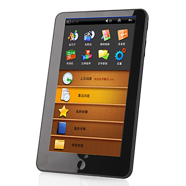"7"" Touch Screen E-Book Reader HD Media Player w/FM Radio and 4GB Memory"
