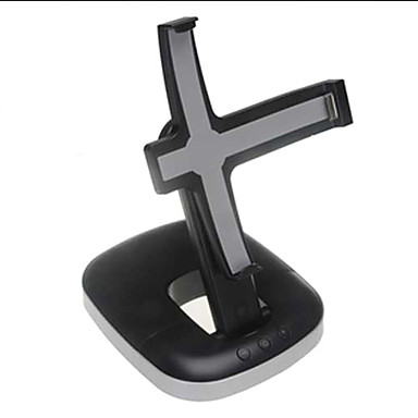 soporte plegable y altavoces para iPad, iPhone y iPod (negro)