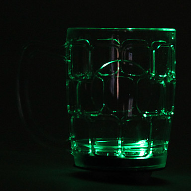 Plastic Colorful LED Flashing Beer Cup Wine Mug