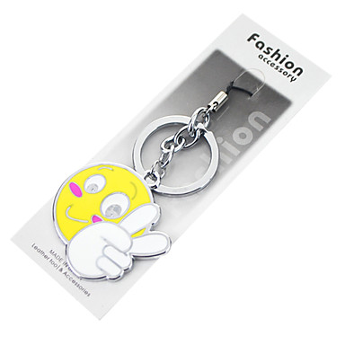 YES Smiley Alloy Style Key Chain Pendant