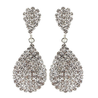 Drop Earrings Rhinestone Alloy Jewelry For Daily