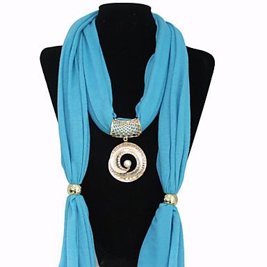 Полиэстер Хлопок круг шаблон Перл кулон ожерелье шарфа