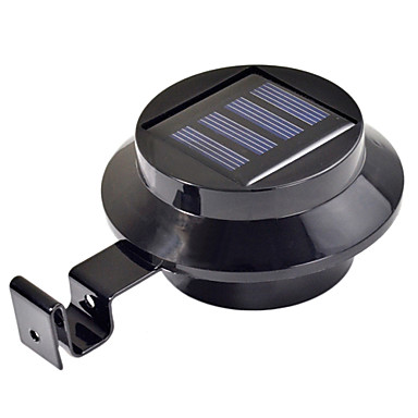 Porte cl ture murale clairage de goutti re solaire 3 led for Eclairage de jardin a led