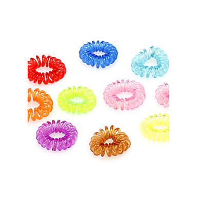 (10 Pcs)Sweet Multicolor  Silicone Hair Ties For Women
