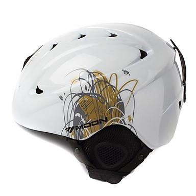 MOON Unsiex Grass White Fall/Winter ABS Ski/Snowboard Helmet