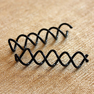 Black Metal Spiral Beauty Hair Clip