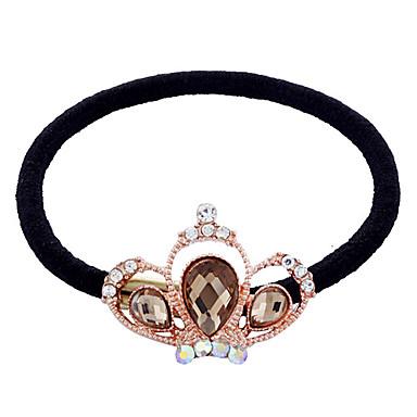 Elegant Rhinestone Crown Hair Ties(Random Color)