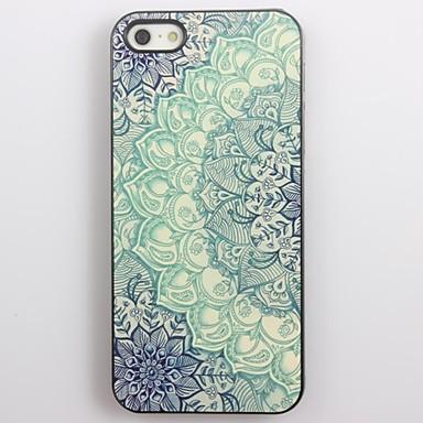 Blue Lotus Pattern Aluminum Hard Case for iPhone 5/5S