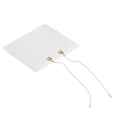 XGHF P-442 Mini 1W High Temperature Ceramic Electric Heating Plate - White (5V)