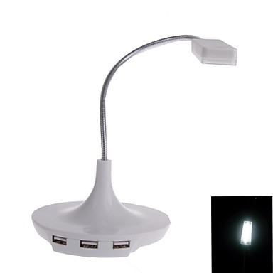 3 In 1 USB LED Table Lamp With 3 Port USB 20 Hub 1978170