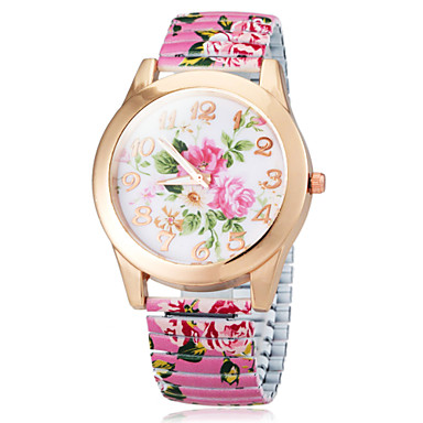 Women's Flower Color Dial Elastic Band Quartz Bracelet Watch (Assorted Colors) Cool Watches Unique