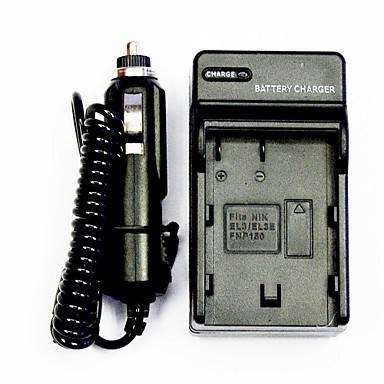 chargeur de batterie de l 39 appareil avec un chargeur de voiture pour nikon el3 el3e fnp150. Black Bedroom Furniture Sets. Home Design Ideas