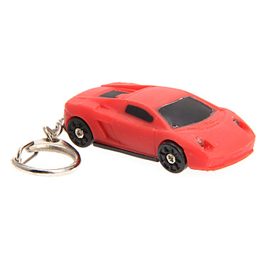 LED Lighting / Key Chain Car Cartoon / Creative Key Chain / LED Lighting / Sound Red ABS