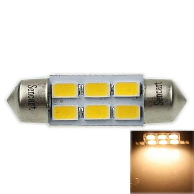 36mm sv8 5 8 3w 6x5730smd 180 220lm 3000 3500k warm wit for Led autolampen