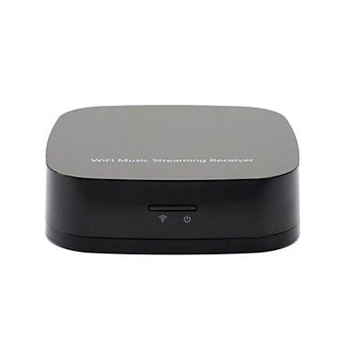 Qplay AirPlay DLNA Wireless WiFi Music Streaming Radio Audio Receiver For IOS Android Black