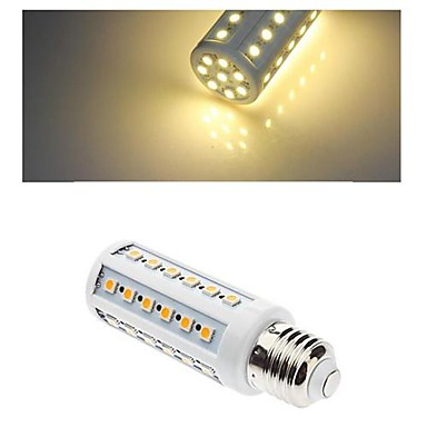 E27 7W 44X5050SMD 500LM 3000-3500K Warm White Color Light LED Corn Bulb (220V)