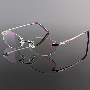[Free Lenses] Titanium Rectangle Rimless Lightweight ...