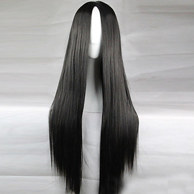 Animation Carved Black Long Straight Hair Wig 80CM