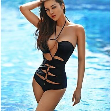La mode f minine sexy noire creuse profonde v une seule for Trajes de bano enterizos 2016