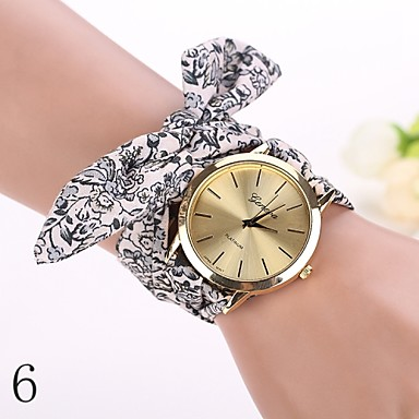 2015 nouvelle mode montres femmes se habillent montre bracelet fille arc sangle en tissu. Black Bedroom Furniture Sets. Home Design Ideas