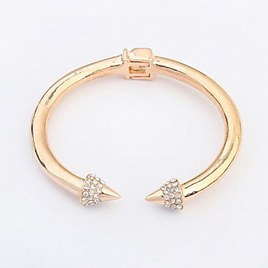 Fashion Punk Alloy/Rhinestone Bracelet Cuff Bracelets For Lover`s Daily/Casual