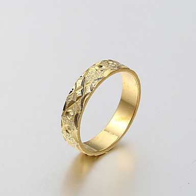 european and american fashion simple matte gold ring