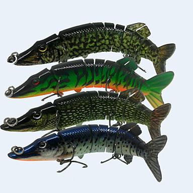 4pcs lot 5 20g lifelike multijointed pike muskie for Muskie fishing lures