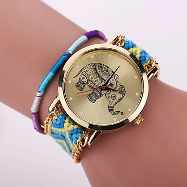 xu femme montre tendance bracelet de montre quartz montre d contract e tissu bande fleur boh me. Black Bedroom Furniture Sets. Home Design Ideas